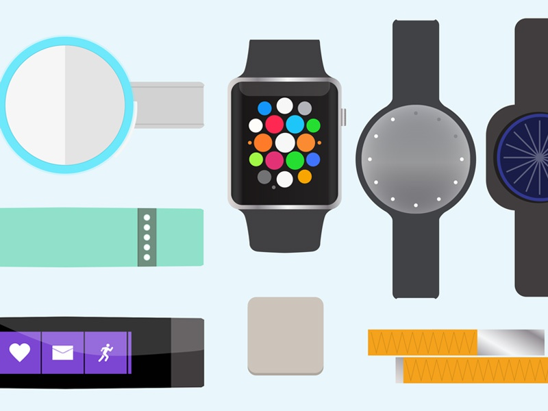 Wearables Report Cover 2016 fitbit fitness apple watch design print presentation cover illustration wearables