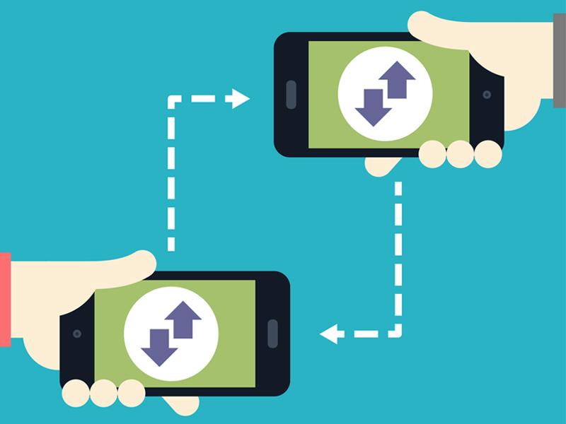Tech Term Tuesday: Near Field Communication flat technology communication app iphone hand graphic design design icon illustration