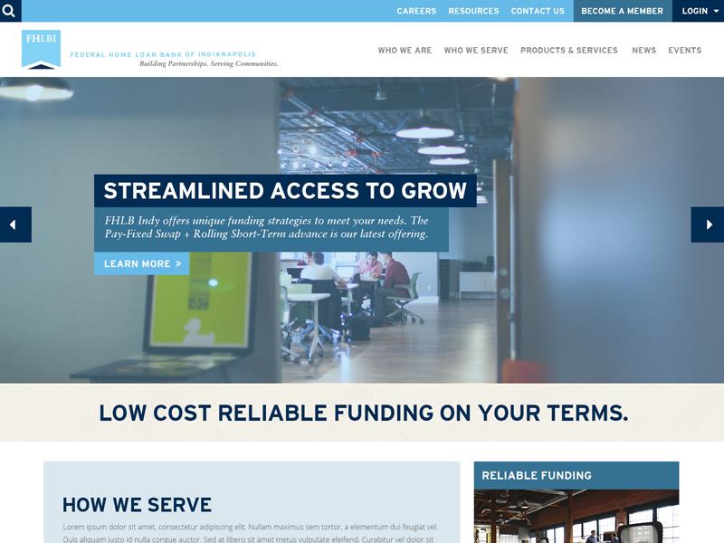FHLBI Desktop Concept web design design indiana responsive sitefinity ui ux desktop financial agency website