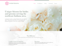 Bridal Blooms One Page Website