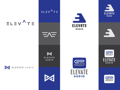 Elevate Audio Logo Concepts vector typography graphic designer brand graphic logo design branding icon minimal logo illustration design graphic design