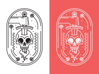 Skull Monoline Crest