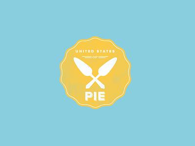 United States of Pie crest seal vintage graphic design retro logo design branding vector icon clean flat logo minimal illustration pie
