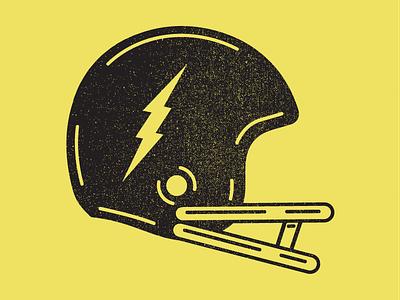 Football Is Back! black yellow grunge texture grunge nfl retro graphic vector icon clean logo minimal illustration graphic design lightning helmet football