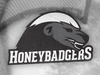 Honey Badgers Hockey Logo