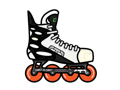 Nike Retro Roller Hockey Skate - Coast to Coast Hockey federov vintage labeda canada hockey roller hockey nike retro branding vector clean flat illustration design graphic design