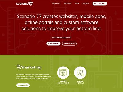 Scenario 77 2019 Website ui logo typography logo design clean design minimal flat illustration web design agency web design