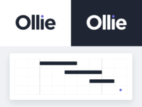 Ollie Logo teams project managers owners track scope plan ollie branding startup logo