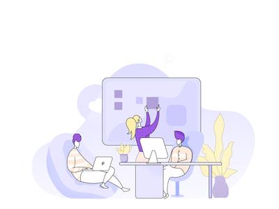 Co-working illustration