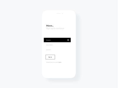 Minimal Sign Up Screen - Light theme