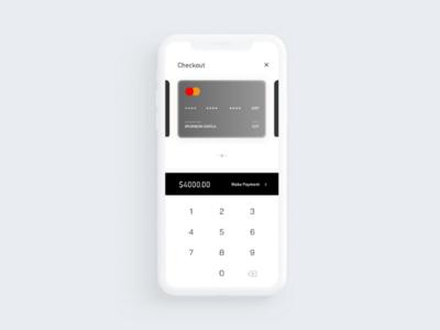 Minimal credit card checkout screen - Light theme