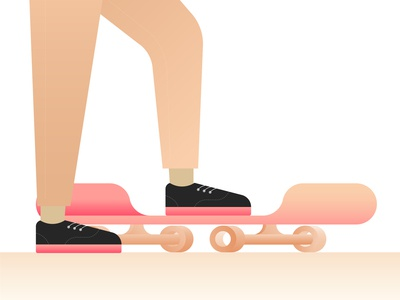 Skateboards and sneakers