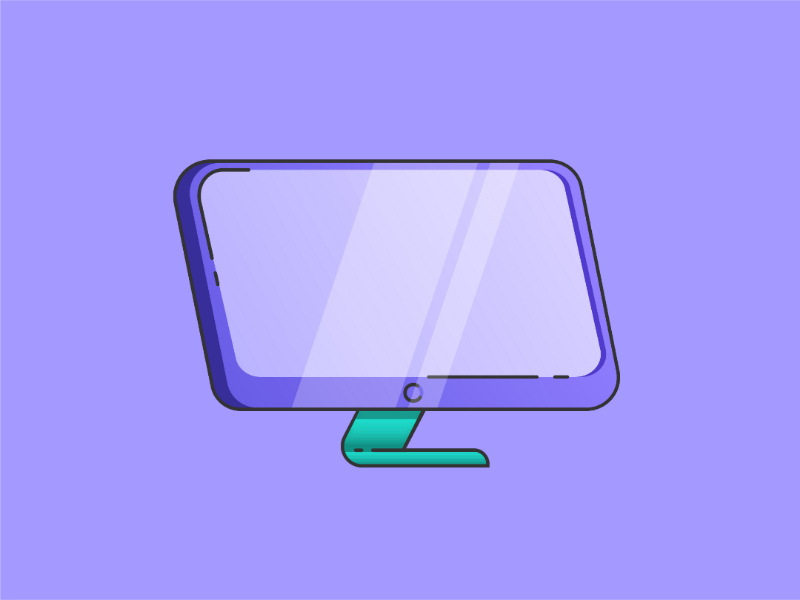 Monitor design - flat and funky gradient material design illustration 30 day design challenge design challenge computer flat design illustration daily daily design