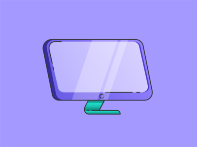 Monitor design - flat and funky