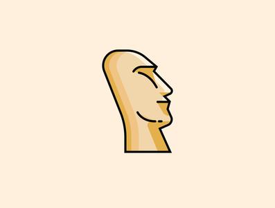 Easter island sculpture
