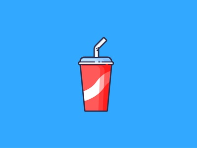 Flat design Diet Coke