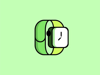 Apple Watch flat design Illustration