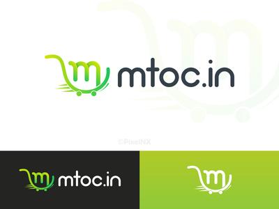Mtoc.in Logo logo design mtoc.in online shopping cartlogo shoplogo app icon branding illustration vector ui design pixelnx logodesign logo mtoc