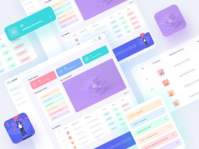 Dashboard UI Design designer app web ui website design web app vector ux userinterface design ui design pixelnx modern minimal illustration digital dashboard ui design dashboad application app ui
