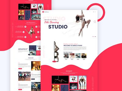 Multifarious - Multipurpose Services Web Template (Dance Studio) dance music dancer dance studio web design web branding psd template designer typography uiux uidesign website psd web template multipurpose design red