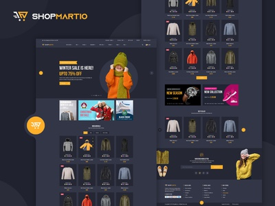 ShopMartio – Multipurpose eCommerce PSD Template uidesign minimal web typography ux ecommerce app multipurpose shopping website branding website vector psd ui pixelnx psd template design