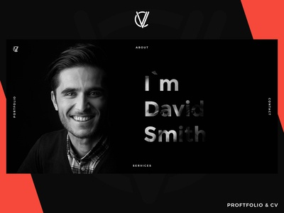 CV Portfolio - Website Template (Dark Version)
