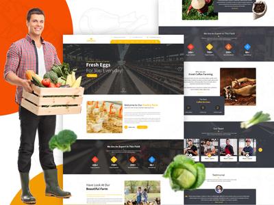 Cultivation PSD Template html psd to html theme psd design psd mockup psd template organic farm health products fruits food farming farmer farm eco products agriculture