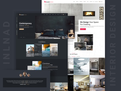 Inland - Interior Design PSD Template psd mockup hsoft psd template real estate property multipurpose interior designer interior design furniture store furniture design exterior design decor construction architecture design architecture architect apartment