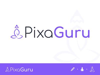 PixaGuru Logo poster template design ui ux ux ui design team pixelnx illustrator photoshop logos images image editor editor editorial logo design logodesign