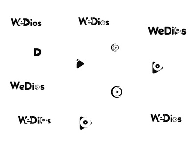WeDios logo Concept vector new launch psd pixelnx website design ui logo video wedio wedios logo video logo