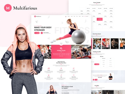Multifarious - Multipurpose Services Web Template (Fitness) locksmith lawyer health fitness consultancy barber gym psd design psd mockup unique multipurpose html website psd psd template ui design pixelnx