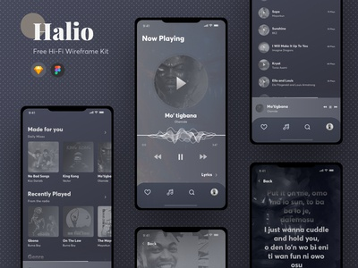 Halio - Free Hi-Fi Wireframing Kit