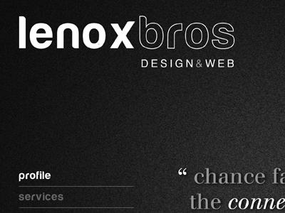 Lenoxbros website