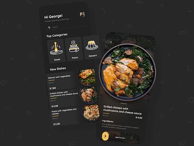 Food Delivery App mobile app design cooking app cooking interface food delivery delivery meals meal food food app ui  ux uiux uidesign application app design app glassmorphism glass design ui