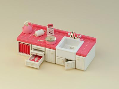 Raspberry Kitchen - Stylized Workshop