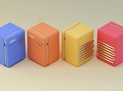 Fridges of colour c4dfordesigners workshop tutorial design art render colourful cute c4d