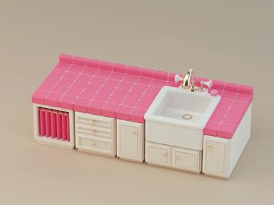 Pink Countertop 3d c4dfordesigners motion graphics animation motion design maxon cinema4d c4d