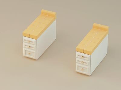 Yellow Range kitchen yellow c4dfordesigners c4dart stylized illustration 3d motion design octane c4d
