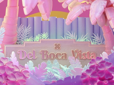 """D is for Del Boca Vista"" design cinema 4d model illustration c4dfordesigners cg 3d cineam4d c4d"