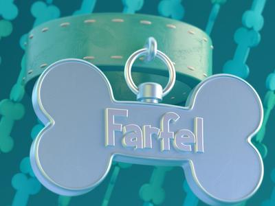 """F is for Farfel"" octane illustration art seinfeld stylized cute 3d illustration cinema4d cinema 4d c4d"