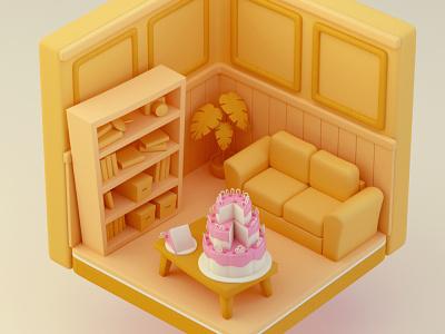 Seinfeld - Entanmanns Cake octane maxon illustration 3d c4d
