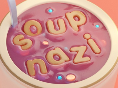 Seinfeld - Soup Nazi illustration octane cinema4d c4d