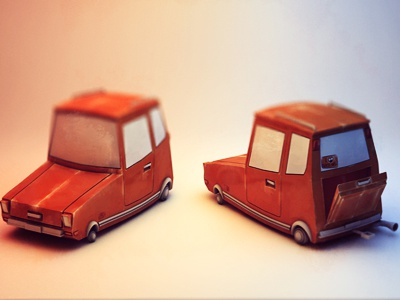 Toy Car  c4d cinema 4d model mesh uv map luggage cartoon toon bodypaint mapping texturing uv mapping