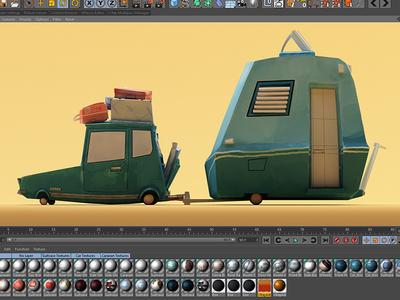 Car and Caravan texture