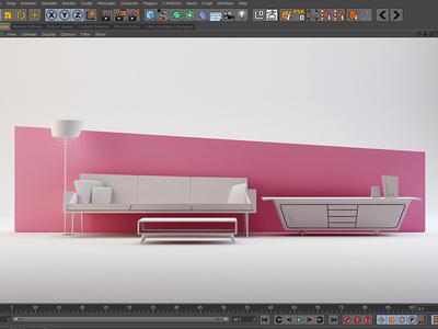 Pink pink modelling cinema 4d c4d