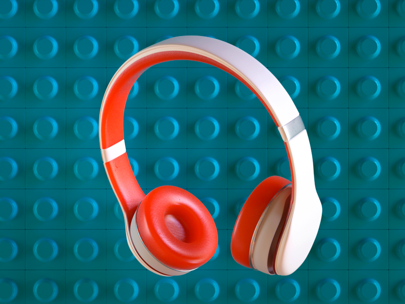 Three - headphones sss octane c4d