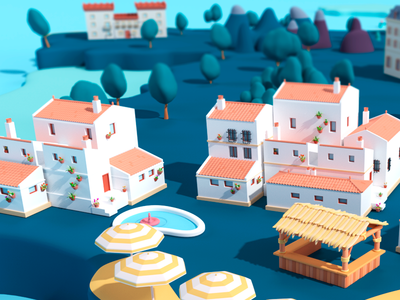 Andalucia low poly c4d