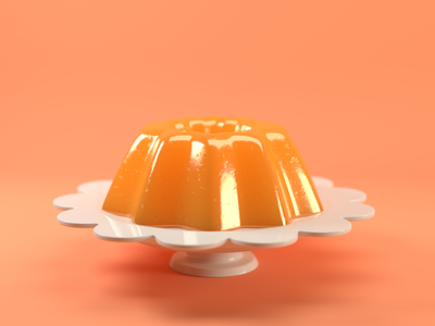Orange Floral Jelly