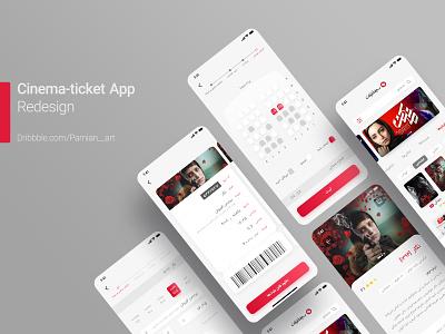 Cinema-Ticket App Redesign (Light) user ui design redesign theatre concept ui  ux user experience user interface ui ticket application app cinema