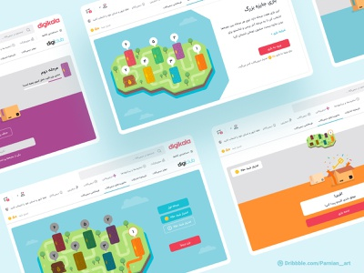 DigiClub Game Center game map map graphic design customer club loyalty point score level design level island door illustraion game ui product design ux ui user experience user interface game design gamification